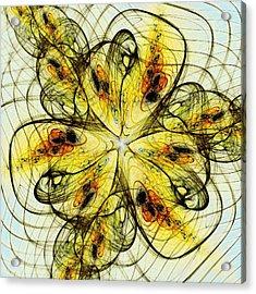 Flower Sketch Acrylic Print by Anastasiya Malakhova