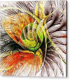 Flower Spirit Acrylic Print by Anastasiya Malakhova