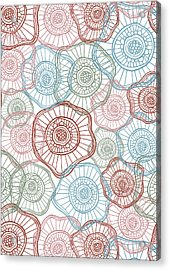 Flower Squiggle Acrylic Print by Susan Claire