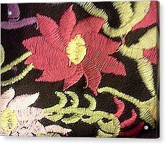 Flower Stich Acrylic Print by Ismael Lopez