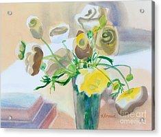 Flower Still Life          Acrylic Print by Kathy Braud