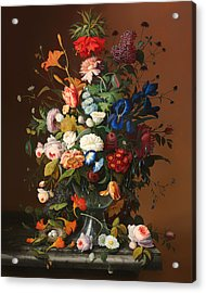 Flower Still Life With A Bird's Nest Acrylic Print