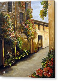 Acrylic Print featuring the painting Flower Street by Carol Hart