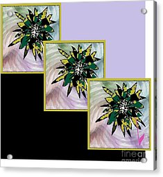 Acrylic Print featuring the digital art Flower Time by Ann Calvo