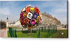 Flower Tree Sculpture At Place Antonin Acrylic Print