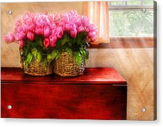 Flower - Tulips By A Window Acrylic Print