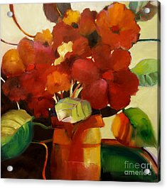 Flower Vase No. 3 Acrylic Print by Michelle Abrams