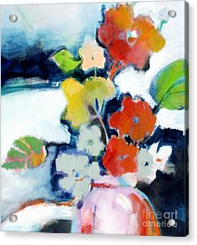 Flower Vase No.1 Acrylic Print by Michelle Abrams