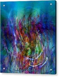 Acrylic Print featuring the digital art Flower Vase by Visual Artist Frank Bonilla
