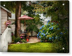 Flower - Westfield Nj - Private Paradise Acrylic Print by Mike Savad