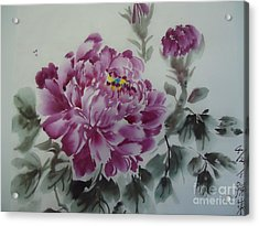 Flower427012-4 Acrylic Print by Dongling Sun