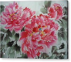 Acrylic Print featuring the painting Flower51012-4 by Dongling Sun