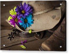 Flowered Hat Acrylic Print by Amber Kresge