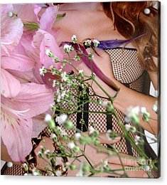Flowergirl1 Acrylic Print by Susan Townsend