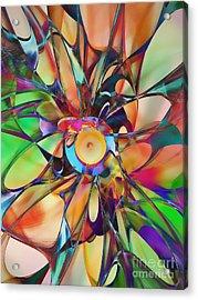 Flowering Acrylic Print by Klara Acel