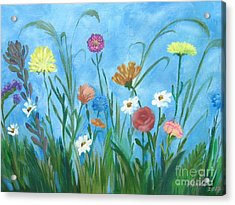 Flowers All Around Acrylic Print