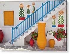Flowers And Colorful Pots, Chora Acrylic Print