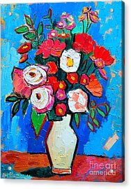 Flowers And Colors Acrylic Print