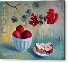 Flowers And Fruits Acrylic Print by Elena Oleniuc