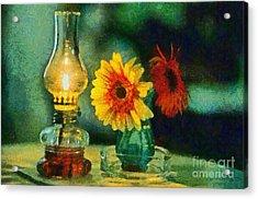 Flowers And Lamp Acrylic Print by George Atsametakis