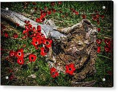 Flowers And Monster Acrylic Print