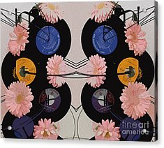Flowers And Phonographs Acrylic Print