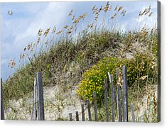 Acrylic Print featuring the photograph Flowers And Sea Oats by Gregg Southard