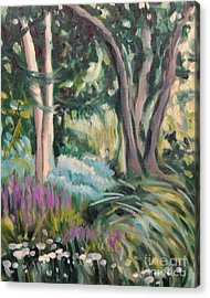 Flowers And Shade Acrylic Print by Hilary England
