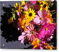 Flowers And Shadow Acrylic Print