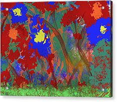 Flowers At Rest Acrylic Print by Bill Minkowitz