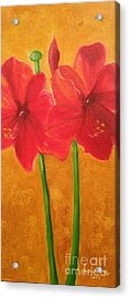 Acrylic Print featuring the painting Flowers by Brindha Naveen