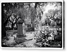 Flowers By The Grave Acrylic Print by John Rizzuto