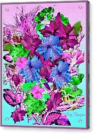 Flowers Designed Just For You Acrylic Print by Ray Tapajna