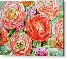 Flowers Flowers Flowers Acrylic Print by Irina Sztukowski