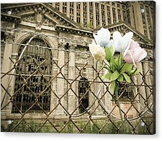 Acrylic Print featuring the photograph Flowers For Detroit by Priya Ghose