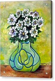 Flowers For Jenny Acrylic Print by Martel Chapman