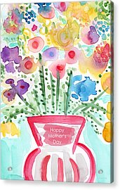 Flowers For Mom- Mother's Day Card Acrylic Print by Linda Woods