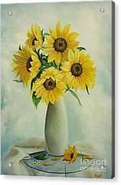 Flowers For You Acrylic Print by Sorin Apostolescu