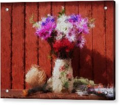 Flowers From My Garden Acrylic Print