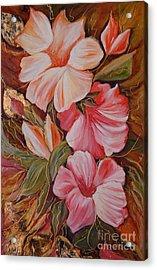 Flowers II Acrylic Print by Silvana Abel