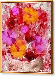 Flowers Impressions  Acrylic Print by Ray Tapajna