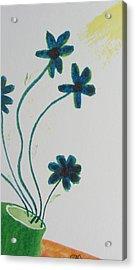 Flowers In A Jade Vase Acrylic Print by Debbie Nester