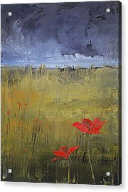 Flowers In A Storm Acrylic Print