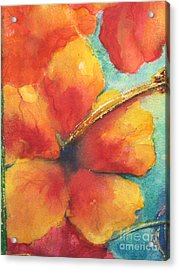 Acrylic Print featuring the painting Flowers In Bloom by Chrisann Ellis