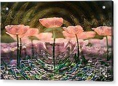 Flowers In Heat Acrylic Print by PainterArtist FIN