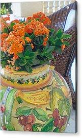 Flowers In Ornate Vase Acrylic Print