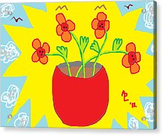 Acrylic Print featuring the painting Flowers In The Sun by Anita Dale Livaditis