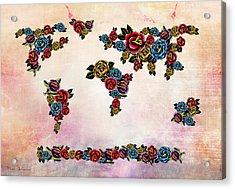 Flowers Map  Acrylic Print