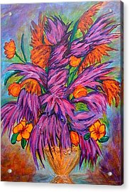 Flowers Of Passion Acrylic Print by Phoenix The Moody Artist