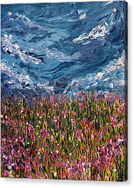 Acrylic Print featuring the painting Flowers Of The Field by Meaghan Troup